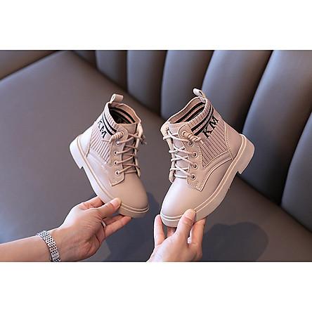 Giày Boot cho bé gái phong cách hàn quốc EB006