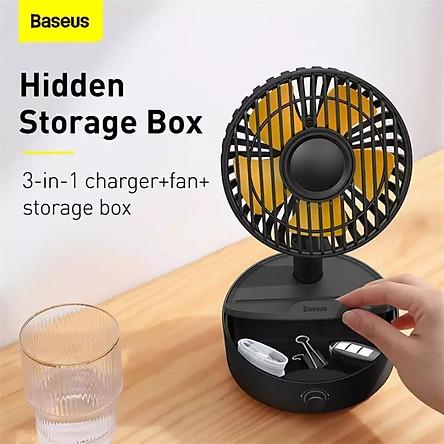(Hàng chính hãng) Quạt để bàn Baseus tích hợp đế sạc không dây công suất 10W, tiếng ồn nhỏ, chạy êm không rung lắc