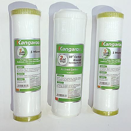Bộ lõi lọc nước Kangaroo số 1, 2, 3 Hàng chính hãng