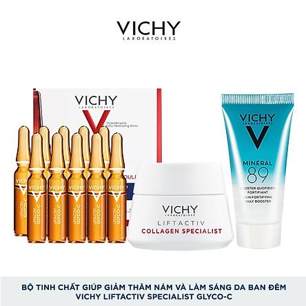 Bộ tinh chất giúp giảm thâm nám và làm sáng da ban đêm Vichy Liftactiv Specialist Glyco-C