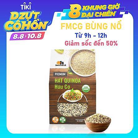 Hộp Mix 3 loại Hạt Quinoa (Diêm mạch) Smile Nuts 500g - Gồm Quinoa Trắng, Quinoa Đen và Quinoa Đỏ - Mixed Quinoa Seed Smile Nuts 500g