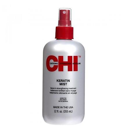 Xịt dưỡng tóc CHI Keratin Mist Leave-in Strengthening Treatment 355ml