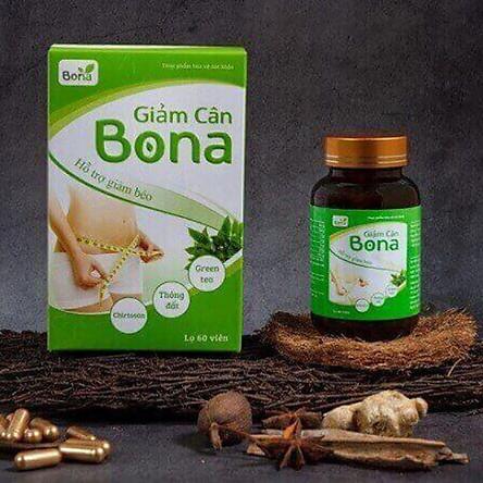 Thực phẩm bảo vệ sức khỏe hỗ trợ giảm cân Bona (60 viên/hộp) - Hỗ trợ giảm cân, giảm thèm ăn