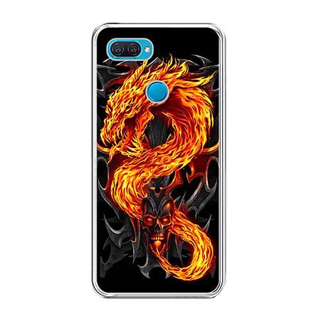 Ốp lưng dẻo cho điện thoại Oppo A12 - 0218 FIREDRAGON - Hàng Chính Hãng