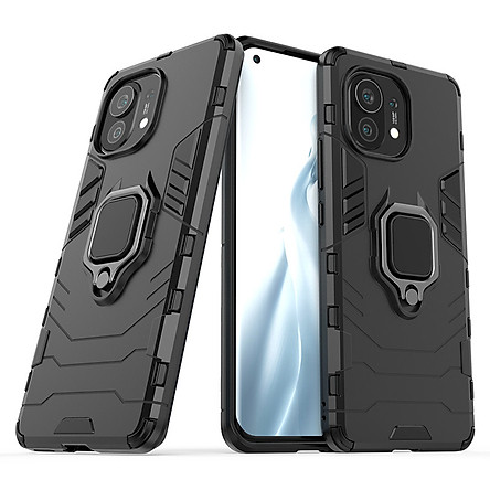 Ốp lưng cho Xiaomi Mi 11 iRON MAN IRING Nhựa PC cứng viền dẻo chống sốc
