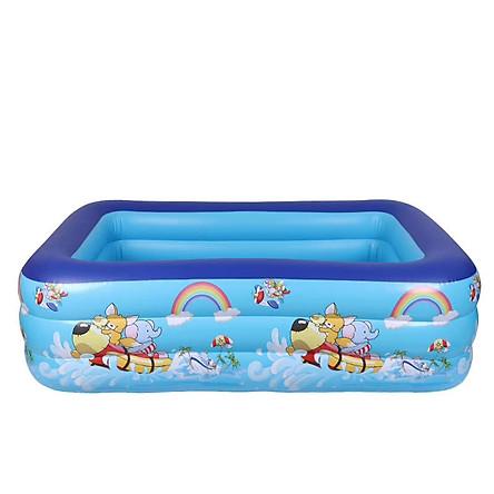 Bể bơi phao cho bé swimming poll KT 120x90x35(cm) (tặng kèm 1 lọ keo và 2 miếng dán) - Kèm bơm điện