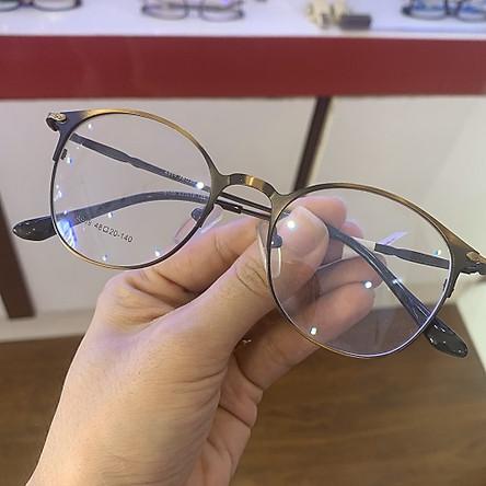 Gọng kính cận mắt tròn kim loại siêu sang, màu siêu bắt mắt - Minh Hiệu Store