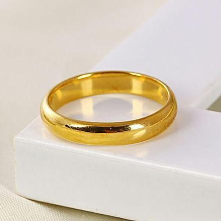 Nhẫn cưới trơn 2 chỉ mạ vàng 24k ( Thái Lan )