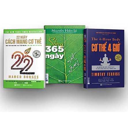 Bộ 3 cuốn sách về sức khỏe giúp bạn xây dựng một lối sống lành mạnh ( 22 Ngày Cách Mạng Cơ Thể , Cơ thể 4 giờ – Bí quyết cân đối khỏe mạnh và đời sống tình dục thăng hoa , Sống 365 ngày một năm)