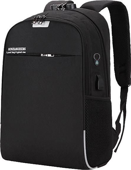 Balo thời trang đi học chống trộm có mã khóa 3 số, cổng sạc USB và lỗ cắm tai nghe tiện lợi