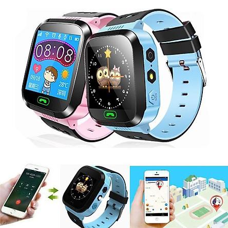Đồng hồ thông minh trẻ em lắp sim, nghe gọi, định vị, chống nước Q528, Tiếng Việt