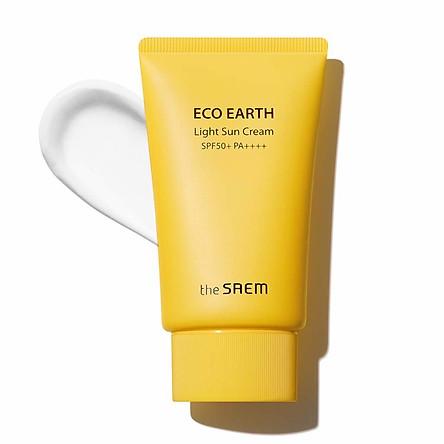 Kem chống nắng The Saem Eco Earth Power Light Sun Cream SPF 50+ PA+++ (50ml)