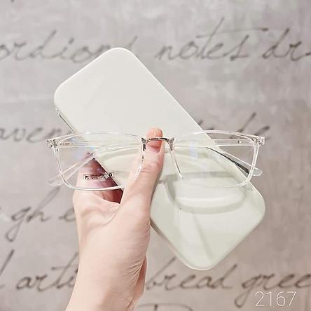 Gọng kính cận vuông nhựa dẻo cho cả nam và nữ 2167 - Tiệm kính Candy
