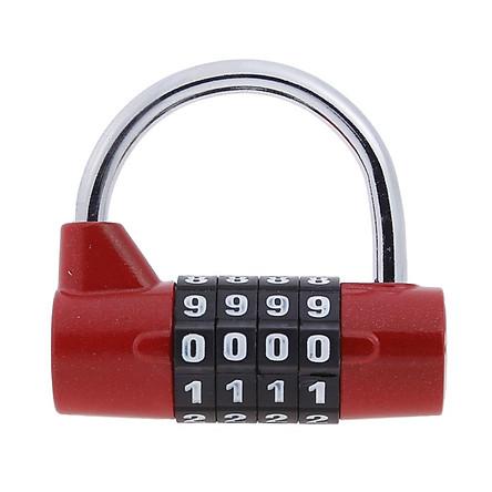 Ổ khóa 4 mã số cao cấp chống trộm dùng cho khóa tủ đồ, khóa vali du lịch (Giao màu ngẫu nhiên)