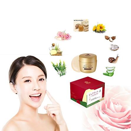 Set dưỡng da chống lão hóa, chiết xuất ốc sên Hasi Kokeshi Puredoll Anti-Aging Care Snail Set