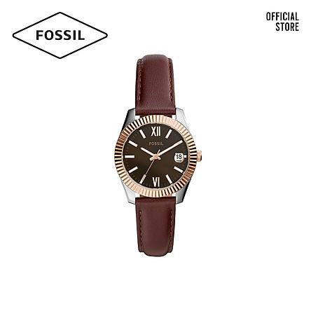 Đồng hồ nữ FOSSIL Scarlette Mini dây da ES4822 - màu nâu