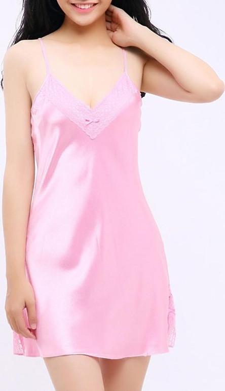 Đầm Ngủ Phi Lụa Wannabe DN588 Thoải Mái, Trẻ Trung, Đáng Yêu Chăm Sóc Giấc Ngủ