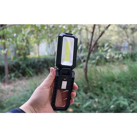Đèn led cắm trại sạc điện W560COB (Tặng kèm miếng thép đa năng 11in1)