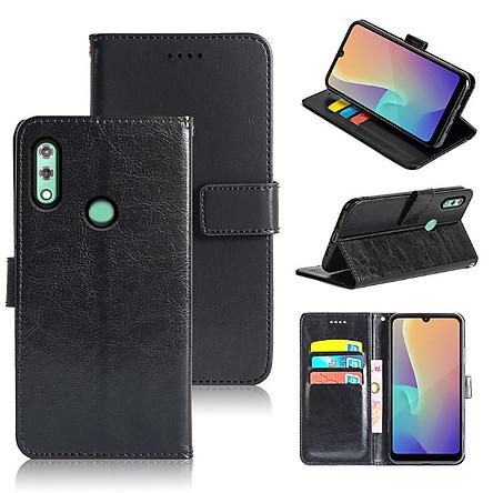 Bao da dành cho điện thoại Vsmart Star 4 - Bao da kiêm ví đựng thẻ ATM và đựng tiền