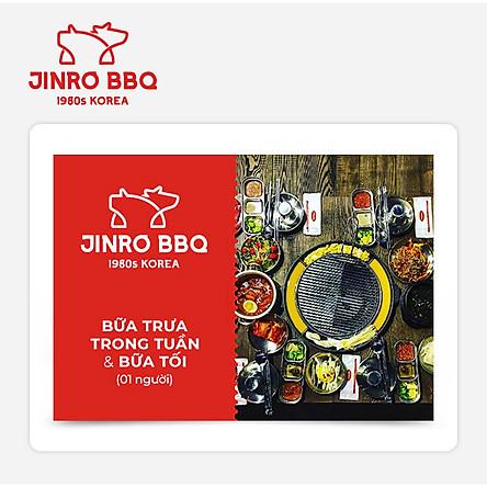 Jinro BBQ - Buffet Bữa Trưa Cuối Tuần Và Bữa Tối (1 người)
