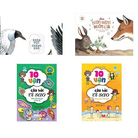 Combo 4 cuốn Khoa học chẳng khó: Theo đàn chim di trú (Tái bản) + Khoa học chẳng khó: Chúc ngon miệng muôn loài (Tái bản) + 10 vạn câu hỏi vì sao - Khám phá thế giới vi sinh vật + 10 vạn câu hỏi vì sao - Khám phá cơ thể người