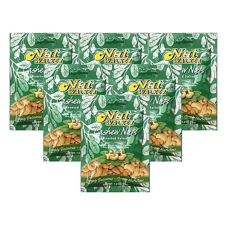 Combo 6 Gói Hạt Điều Rang Muối Nut Walker (35g)