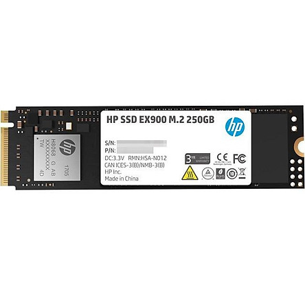 Ổ Cứng SSD HP EX900 M.2 NVMe 250GB - Hàng Chính Hãng