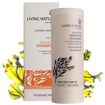 Dầu Gội Làm Mềm Tóc, Giảm Rụng Living Nature Balancing Shampoo 200ml
