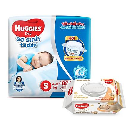 Tã dán sơ sinh Huggies mới (5kg-8kg) - Gói 88 miếng