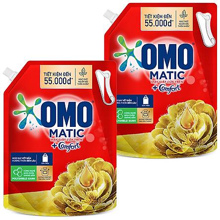 Combo 2 Túi Nước Giặt OMO Matic Comfort Hương Tinh dầu thơm 2.9kg