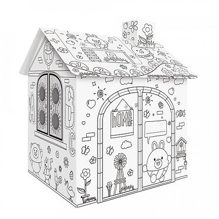 Mô Hình Nhà Lắp Ráp Tô Cho Trẻ Em DIY