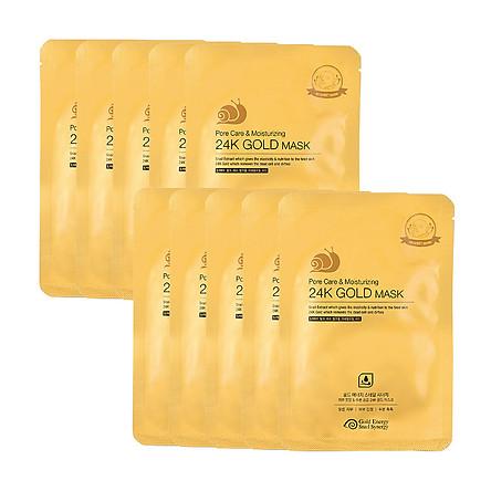 Mặt nạ cấp ẩm thu nhỏ lỗ chân lông dành cho da khô GOLD SNAIL Mask Pack (Pore Care + Moisturizing) 33ml