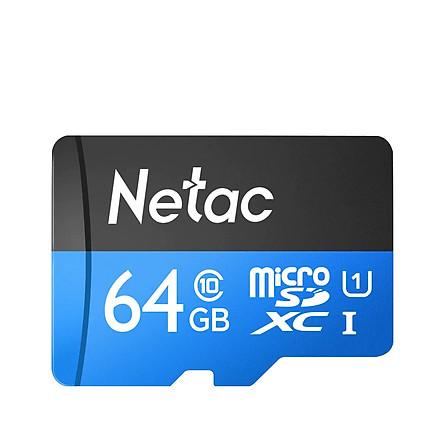 Thẻ nhớ MicroSDXC Netac C10 UHS-I U1 64GB 80MB/s (Hàng chính hãng)