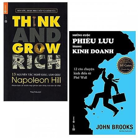 Combo 13 Nguyên Tắc Nghĩ Giàu Làm Giàu - Think And Grow Rich và Những Cuộc Phiêu Lưu Trong Kinh Doanh (Tái bản 2020)