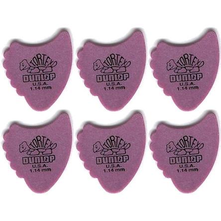 Combo 6 pick gảy Tortex fin Dunlop