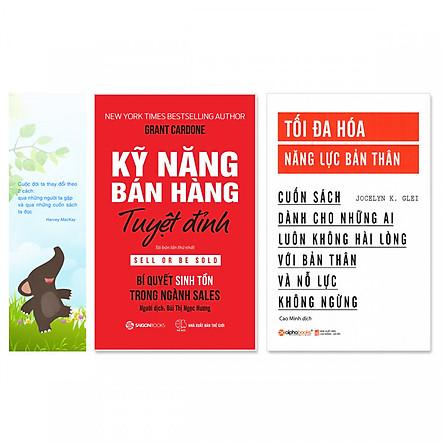 Combo 2 cuốn: Kỹ Năng Bán Hàng Tuyệt Đỉnh, Tối Đa Hóa Năng Lực Bản Thân + Bookmark danh ngôn hình voi