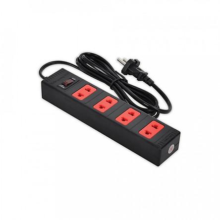 Ổ cắm Điện Quang ECO ĐQ ESK 2BR 42 ECO (4 lỗ 2 chấu, dây dài 2m màu đen đỏ )