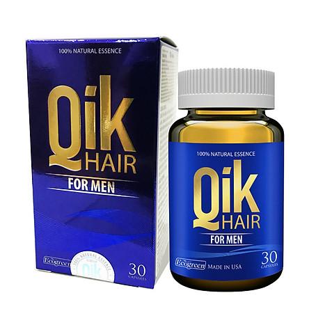 Thực phẩm chức năng Qik Hair For Men, 30 viên