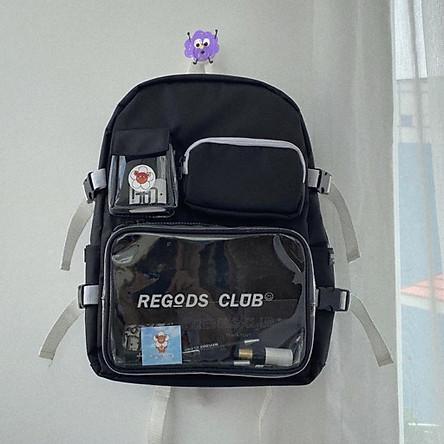 Balo Thời Trang Regods club ss1 Unisex học sinh sinh viên đi học laptop Balo đi học nam,nữ thời trang hàn quốc