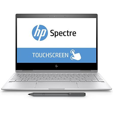 HP Spectre X360 13-Ae011dx I7 8550U 8GB 256GB-SSD 13.3FHD Touch Flip W10 Silver - Hàng nhập khẩu