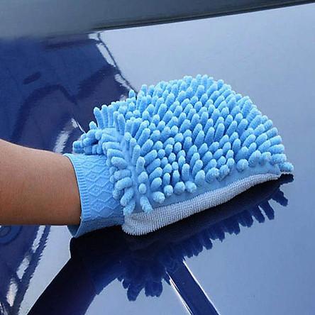 Găng tay sợi mịn lau, rửa xe cao cấp