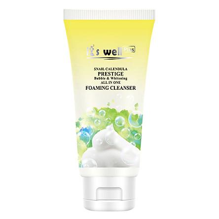 Sữa Rửa Mặt Tạo Bọt Và Dưỡng Trắng Da It's Well Plus Snail Calendula Prestige Bubble & Whitening All In One Foaming Cleanser CPFC-B (150ml)