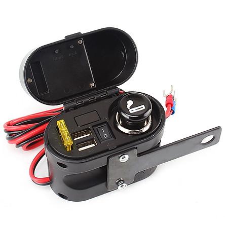 Ổ cắm sạc xe máy chống nước xe máy RH-H0105