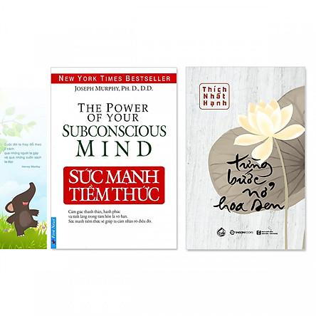 Combo 2 cuốn: Từng Bước Nở Hoa Sen, Sức Mạnh Tiềm Thức (Kèm bookmark danh ngôn hình voi)