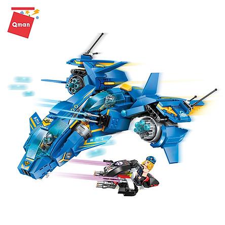Đồ chơi xếp hình, lắp ráp lego Qman 2714 – Trận chiến trên không (406 mảnh ghép)