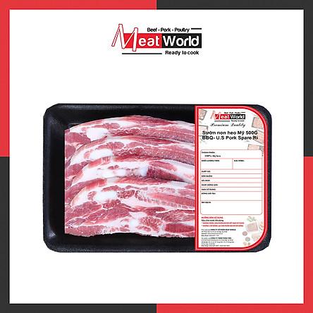 [Chỉ Giao HCM] - Sườn Non Heo Mỹ 500g Nướng BBQ- U.S Pork Spare Rib