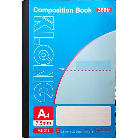 Lốc 2 quyển Sổ may dán gáy Klong 360 trang