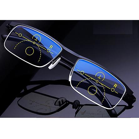 Kính viễn thị đa tròng chống tia UV từ điện thoại, máy tính tặng Cây gãi lưng chỉnh độ dài có đầu gãi bằng PVC.