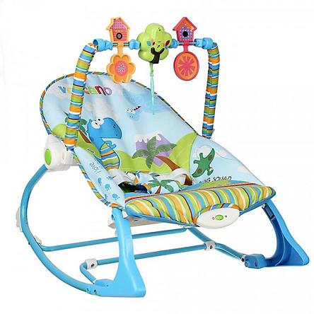 Ghế rung có nhạc và thanh đồ chơi vận động KK63562 Konig Kids - Màu Xanh