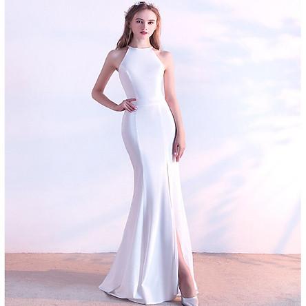 Đầm Yếm Dài Dạ Hội Đuôi Cá Cho Nữ Xi Diao